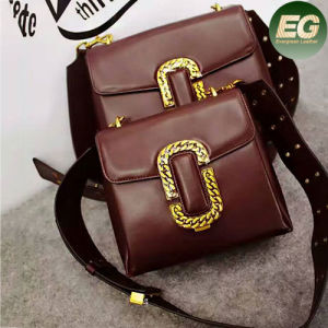 Guangzhou Wholesale Genuine Leather Handbag Two Size Lady Shoulder Bags Made in China Emg4964 pictures & photos