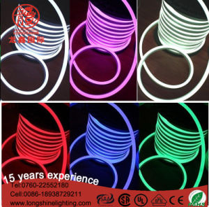 LED 120LED/M D Shape Ce RoHS Green Neon Strip Flex Light pictures & photos
