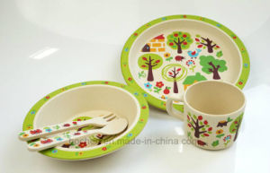 BPA Free Bamboo Fiber Tableware Kids Dinnerware Set (BC-BB-SU2010) pictures & photos
