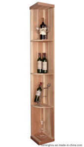 Elegant Generous Natural Solid Wood Cabinet for Wine Storage Display pictures & photos