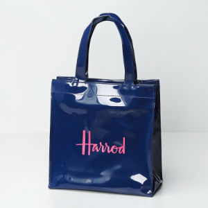 Small Size Waterproof PVC Blue Shopping Bag (A0122) pictures & photos
