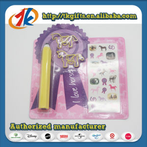 Stationery Set Toy Eraser Pen and Book Mark with Stickers pictures & photos