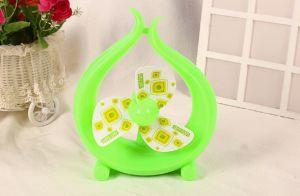 Three Color Mini LED ABS Plastic Cartoon Cute Fan pictures & photos