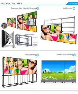 55 Inch 1X3 LCD Video Wall Support Vertical Display (MW-553VAD) pictures & photos