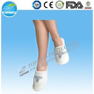 Customized 100% Cotton Terry Towel Disposable Hotel Slipper pictures & photos