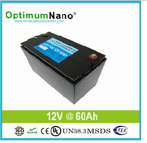 Li-ion Battery LiFePO4 12V 60ah for UPS/Solar /off Grid with BMS pictures & photos