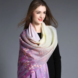 Wool Scarf Lavender Digital Printing pictures & photos