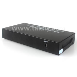 10/100/1000m 2 SFP+ 4 RJ45 Ports Fiber Optic Media Converter Giga Fiber Ethernet Switch pictures & photos