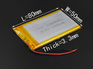 335080 3.7V 2800mAh Polymer Li-ion Battery for Tablet PC Power Bank Mobile Electronic Part DIY Speaker Flash Lighting pictures & photos