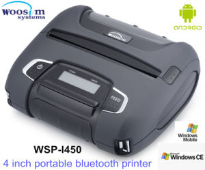 Bluetooth/WiFi Mobile Printer for Android/Ios System Woosim 4 Inch Wsp-I450 pictures & photos