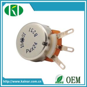 24mm 3 Pin Rotary Linear Potentiometer with Metal Shaft Wh0241-2 pictures & photos