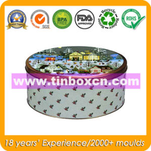Round Tin Box for Festival, Gift Tin, Metal Gift Box pictures & photos