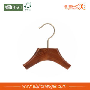 Eisho Walnut Finish Collection Wooden Suit Hangers pictures & photos