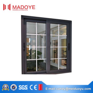 American Style Sliding Window with Decorative Grill pictures & photos