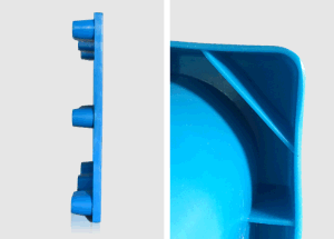 1200*1100*140mm HDPE Nine Feet Plastic Pallet Single Side Nest Plastic Pallet for Warehouse Storage (ZG-1211) pictures & photos