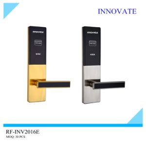 Stainless Steel Wooden Door RFID Card Hotel Lock, Free System, Free Software Management pictures & photos