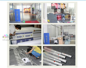 easy set-up aluminum pipe cobra shape Event display banner stand pictures & photos
