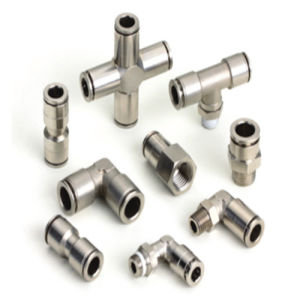 Straight Tube Male Female Pipe Metal Pushing Fittings pictures & photos