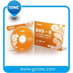 Ronc DVD-R 16X 4.7GB 10 Pack X 1 (10) in One 5.2mm Jewel Case pictures & photos