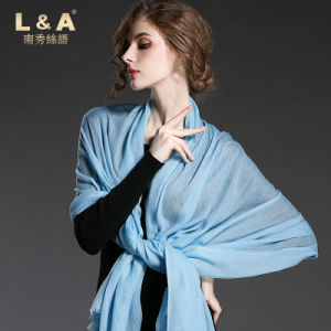Pure Color Cashmere Scarf Shawl for Women