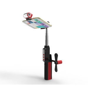 Fan and LED Fill Light Selfie Sticks pictures & photos