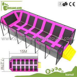 Wholesale Cheap Large Trampoline Park with Foam Pit & Basketball Hoop pictures & photos