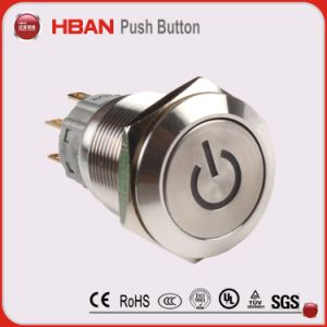 22mm IP67 2no2nc Dpdt Ring-Illuminated Push Button pictures & photos