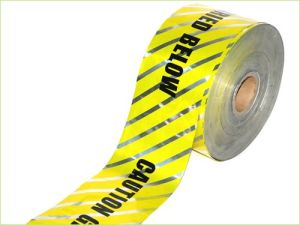Low Price Buried Electric Line Detectable Caution Tape pictures & photos