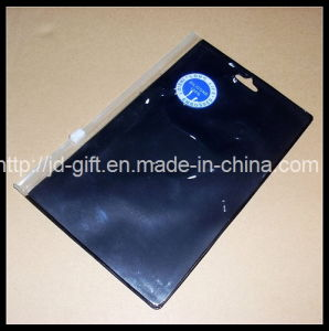 Black PVC Zipper Bag, PVC Printing Bag, Slider Bag with Hanging Hole, PVC Pencil Bag pictures & photos
