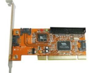 VIA VT6421A 3-Port SATA/eSATA RAID & IDE Controller PCI Card