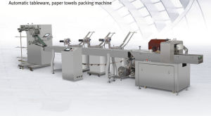 Automatic Packaging Paper Disposable Tissue Cutlery Packing Machine pictures & photos