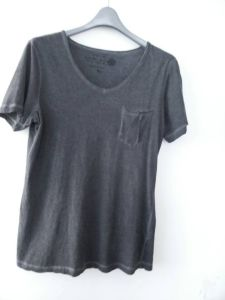 Men′s S/S T-Shirt with Dirty Washed