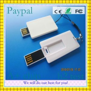 Promotional Gift White Credit Card Shaped USB Pen Drive (GC-C009) pictures & photos