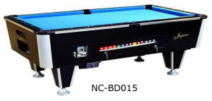Coin-Operated Solid Wood Pool Table with Slate (NC-BT015) pictures & photos