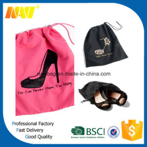 Cotton Drawstring Ladies Shoe Bag pictures & photos