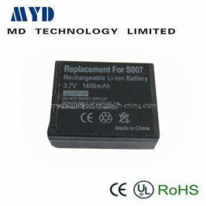 Digital Camera Battery (Replacement for Panasonic S007 3.7V 1400mAh)