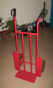 Practical Oxygen Cylinder Hand Trolley (RED) (HT0002) pictures & photos