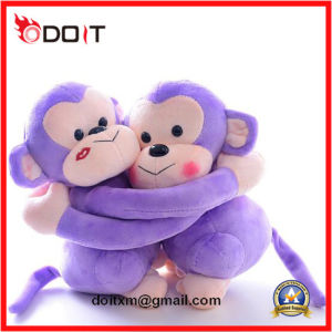 Purple Hug Couple Plush Toy Monkey pictures & photos