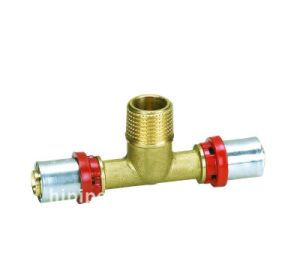 Brass Th Press Fitting - Male Tee Pex-Al-Pex Pipe, plastic Pipe Fittings pictures & photos