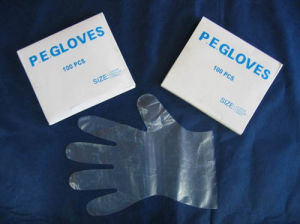 PE Gloves with Paper Box (CC-GL-002) pictures & photos
