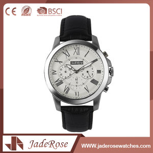 Black Leather Band Man Wrist Watch pictures & photos