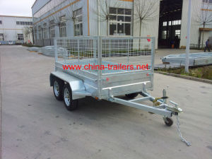 Galvanized Box Trailer with Cage (TR0305) pictures & photos