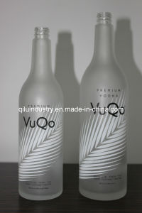 375ml/750ml Custom Frosted Glass Bottles for Vodka or Whisky (V-001)
