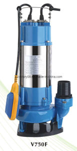 CE Approved Stainless Steel Submersible Sewage Pump ((V750F)WQ10-10-0.75) pictures & photos