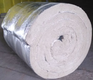Fiberglass Blanket Aluminum Rock Wool Foil on One Sider Rockwool pictures & photos