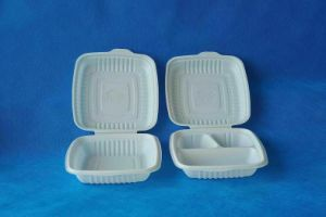 Disposable Biodegradable Corn Starch Lunch Box / Food Containers