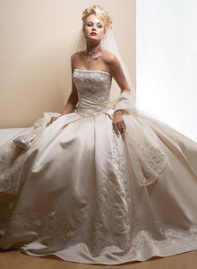 Wedding Ball Gown with Style of Silver Vintage