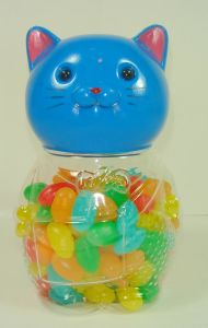 Blue Cat Bottle with Jelly Bean (CWS2045)
