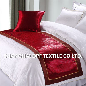 100% Polyester Jacquard Bed Runner pictures & photos