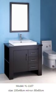 Bathroom Furniture with MDF Veneer with Mirror Cabinet pictures & photos